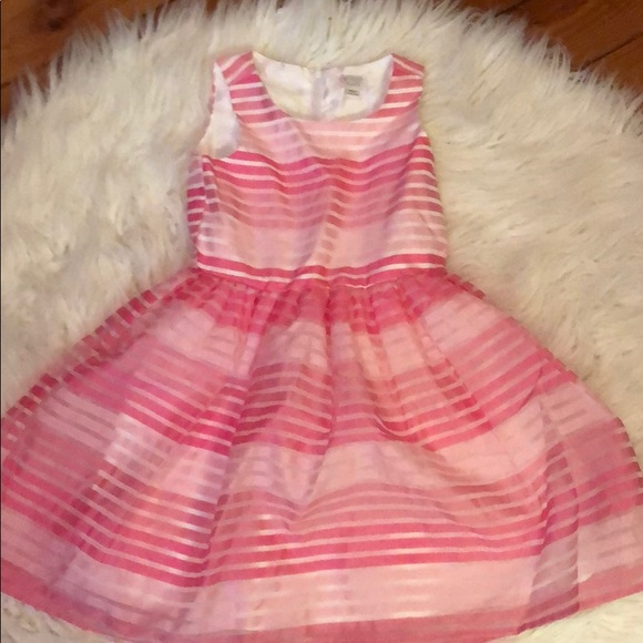 The Children's Place Other - Girls pink striped dress.